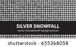 "houndstooth pattern set ""silver ... 