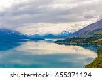 mountain   reflection lake from ... | Shutterstock . vector #655371124