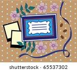 vintage cute card. vector... | Shutterstock .eps vector #65537302