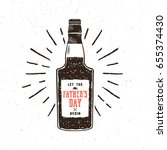 rum bottle in retro style with... | Shutterstock . vector #655374430