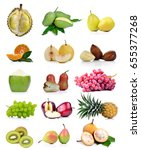 fruits isolated on white... | Shutterstock . vector #655377268