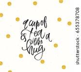 trendy hand lettering poster.... | Shutterstock .eps vector #655378708