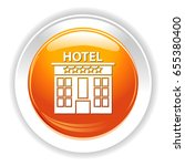 hotel icon | Shutterstock .eps vector #655380400