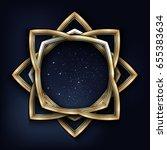 vector illustration of a golden ... | Shutterstock .eps vector #655383634
