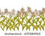 corn maize vector seamless... | Shutterstock .eps vector #655384963