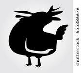 rooster  cock  chicken vector... | Shutterstock .eps vector #655386676
