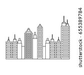 city buildings design | Shutterstock .eps vector #655389784