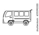 van vehicle icon | Shutterstock .eps vector #655390330
