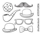 vector illustration. set of... | Shutterstock .eps vector #655391806