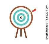 wooden target for archery and... | Shutterstock .eps vector #655394194