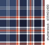 blue check fabric texture pixel ... | Shutterstock .eps vector #655401400