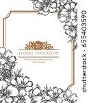 vintage delicate invitation... | Shutterstock .eps vector #655403590