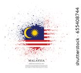 flag of malaysia  brush stroke... | Shutterstock .eps vector #655408744