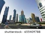doha  qatar  22 dec 2016  view... | Shutterstock . vector #655409788