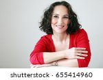beautiful middle age woman... | Shutterstock . vector #655414960