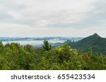 fog covering the mountain... | Shutterstock . vector #655423534