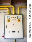 electricity distribution box... | Shutterstock . vector #655431790