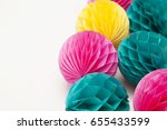 Bright Party Honeycomb Pom Pom...