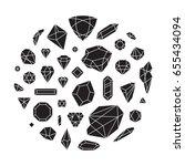 creative trendy set of diamond... | Shutterstock .eps vector #655434094