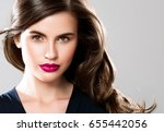 beauty woman face portrait.... | Shutterstock . vector #655442056