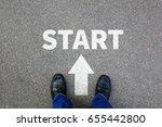 Small photo of Start starting begin beginning businessman business concept job career goals motivation vision