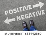negative positive thinking good ... | Shutterstock . vector #655442860