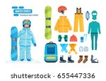 set for creating a character ...   Shutterstock .eps vector #655447336