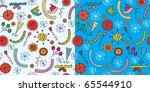 christmas funny patterns... | Shutterstock .eps vector #65544910