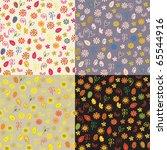 floral autumn seamless patterns ... | Shutterstock .eps vector #65544916