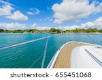 view from luxury yacht in... | Shutterstock . vector #655451068