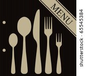 vector. restaurant menu design | Shutterstock .eps vector #65545384