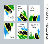 tanzania patriotic cards for... | Shutterstock .eps vector #655463518