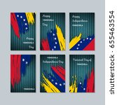 venezuela patriotic cards for... | Shutterstock .eps vector #655463554