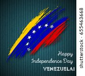 venezuela independence day... | Shutterstock .eps vector #655463668