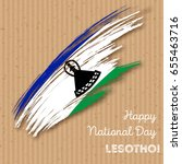 lesotho independence day... | Shutterstock .eps vector #655463716