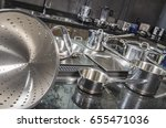 stainless steel kitchenware... | Shutterstock . vector #655471036