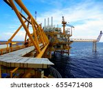 oil gas production platform.... | Shutterstock . vector #655471408