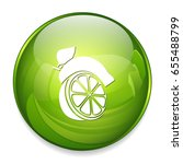 green lemon icon | Shutterstock .eps vector #655488799