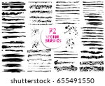 set of different grunge brush... | Shutterstock .eps vector #655491550