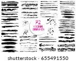 set of different grunge brush... | Shutterstock .eps vector #655491550