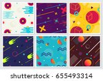 memphis style large background... | Shutterstock .eps vector #655493314