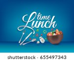 """lunch time"" paper hand... 