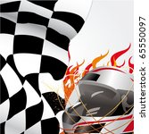 racing flag and helmet with... | Shutterstock .eps vector #65550097