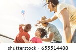 happy family with parents and... | Shutterstock . vector #655514488
