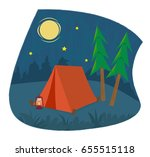 camping icon   clip art of a... | Shutterstock .eps vector #655515118