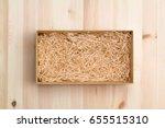 Wine Box With Decorative Straw...