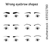 female eyes and eyebrows vector ... | Shutterstock .eps vector #655522780