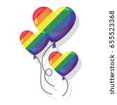 happy pride day. love is love...   Shutterstock .eps vector #655523368