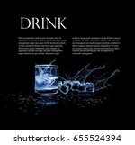 illustration with a glass of... | Shutterstock .eps vector #655524394