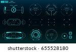 futuristic virtual graphic... | Shutterstock .eps vector #655528180